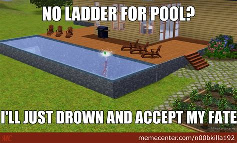 The Sims Meme - sims pool logic by n00bkilla192 meme center