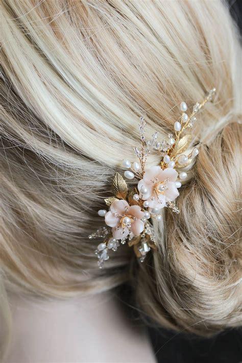 Wedding Hair Pieces Adelaide by Blushing Flower Hair Blushing A Pearl Bridal