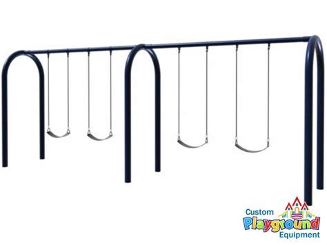 commercial swing set parts heavy duty commercial 2 bay arch swingset