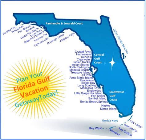 florida gulf coast map florida gulf vacation vacation rental map