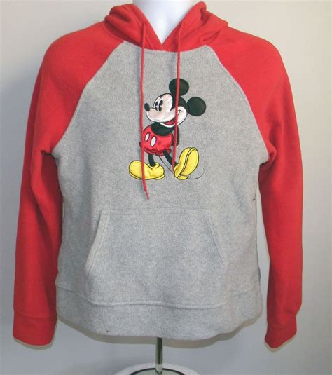 Baju Setelan Mini Mickey Mouse Grey euc womens disney mickey mouse fleece hoodie large gray front pocket other