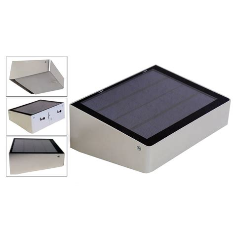 self contained solar powered strobe light eleding 180 degree solar powered 53 led outdoor compact