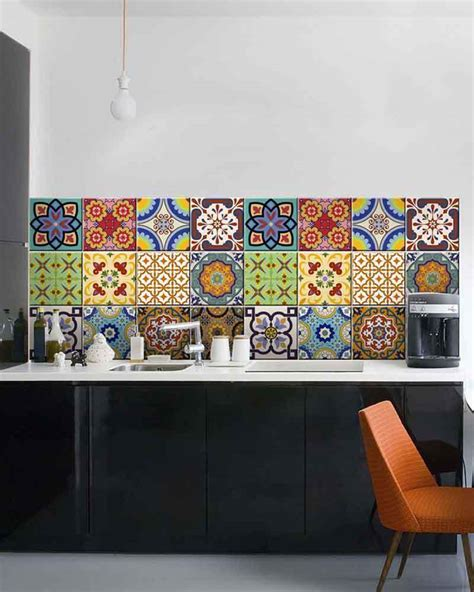 decals for home decorating 24 set mexican tile stickers wall decals home decor
