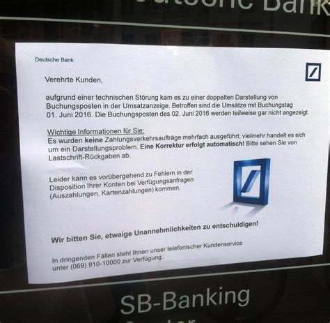 deutsche bank software deutsche bank 60 000 kunden bekamen kein geld am