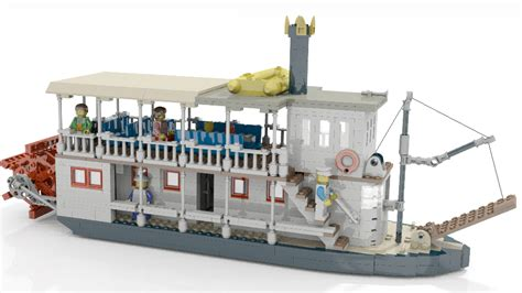 lego river boat lego ideas small sternwheeled river paddle steamer
