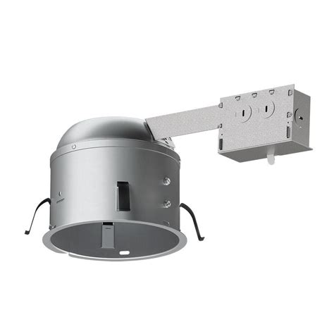 Recessed Lighting Insulated Ceiling Halo H2750 6 In Aluminum Led Recessed Lighting Housing For Remodel Shallow Ceiling T24