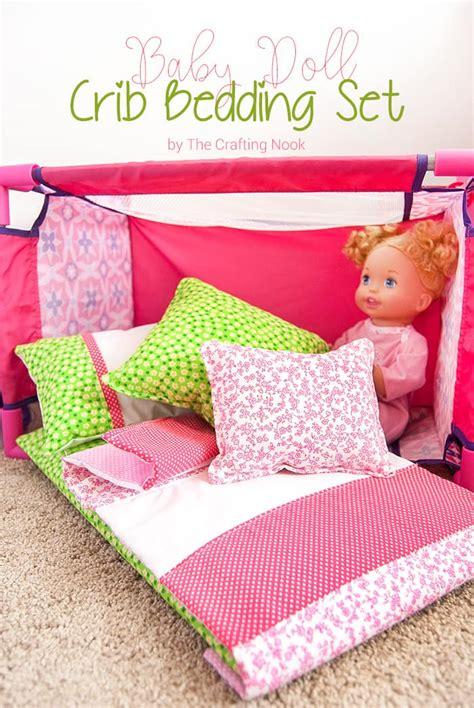 Diy Baby Doll Crib Bedding Set The Crafting Nook By Diy Crib Bedding Set