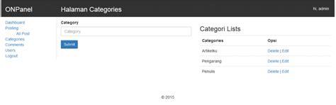 membuat web satu halaman cara membuat website halaman categories onphpid tutorial