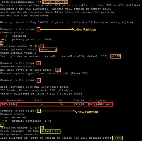 format file in unix format a new disk for linux lvm the unix