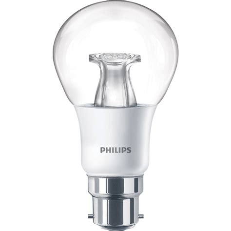 philips led warm glow dimmable a shape l 6w bc b22d 470lm toolstation