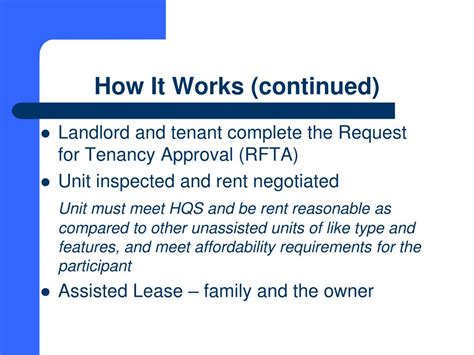 how does section 8 work for landlords ppt south carolina state housing finance and development