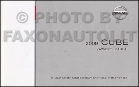 security system 2009 nissan cube user handbook 2009 nissan cube owner s manual original