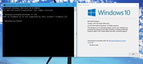 tutorial windows 10 bootc create shortcut to boot to uefi firmware settings in
