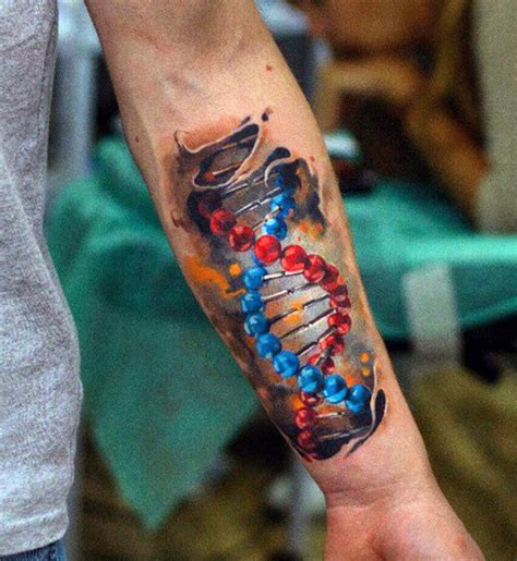 dna tattoo designs 60 dna designs for self replicating genetic