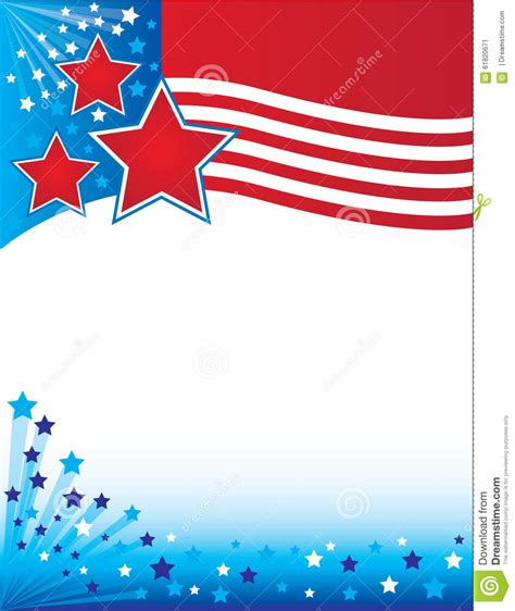 Patriotic Flyers Background Stock Illustration Image 61820671 Free American Flag Flyer Template