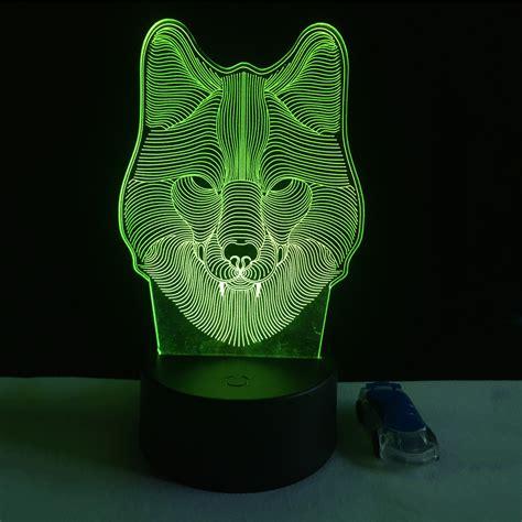 led lights for kids 7 color wolf l 3d visual led night lights for kids