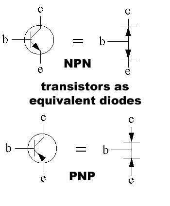different types of diodes and transistors transistor types