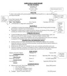 Exles Of Skills For Resume by Sle Resumes Junlib