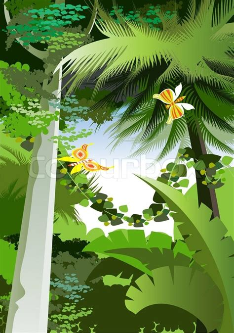 overgrown plants   jungle stock vector colourbox