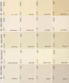 Benjamin moore whites whites on the second row from the