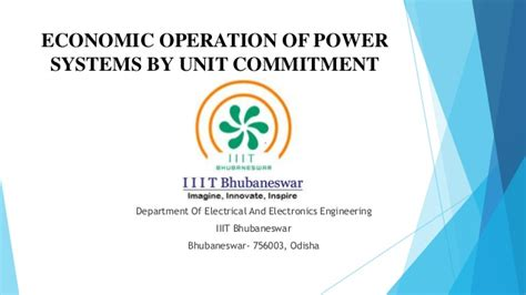 power system operations and electricity markets electric power engineering series books economic operation of power systems by unit commitment