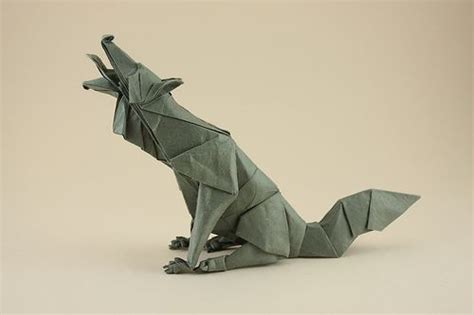 Origami Wolf Folding - origami wolf search origami patterns for