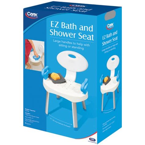 carex bath and shower seat carex ez bath shower seat with handles