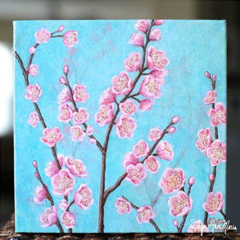 cherry blossom branch speed painting 100 cherry blossom branch speed painting