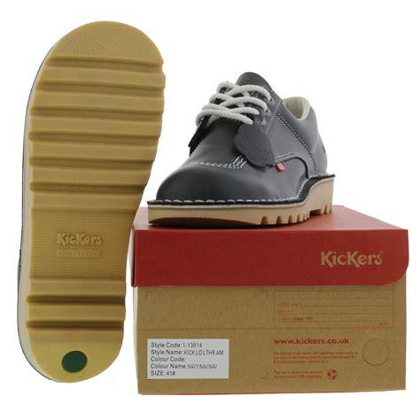 Kickers Traking Nevy kickers womens kick lo leather navy blue shoes ebay