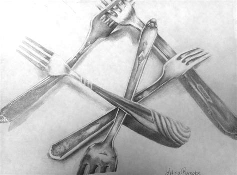 Drawing Utensils by Flying Shoes Studio Back To School Ap Silverware