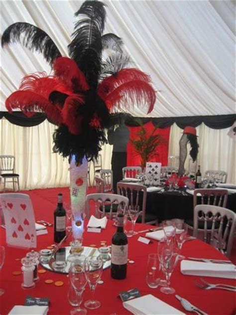 red and black casino table centerpiece sept 13th