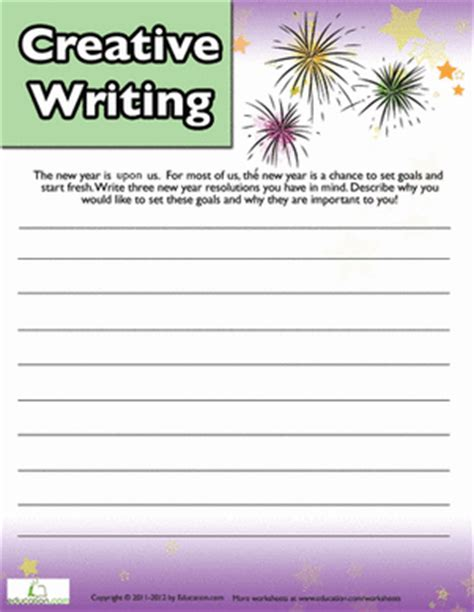 new year activities for 4th grade free worksheets 187 4th grade writing worksheets printables