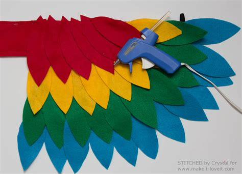 How To Make Paper Wings For A Costume - sew an easy parrot costume make it and it