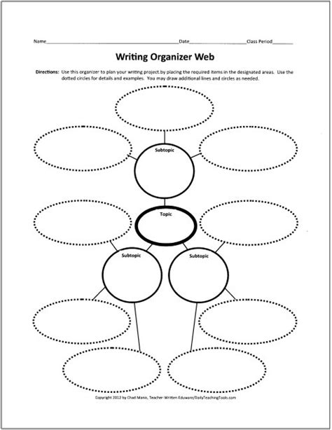 spider report organizer free graphic organizers for teaching writing