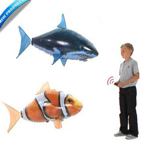 Flying Fish Air Swimmer Clownfish Nemo cheap air swimmers flying clownfish shark nemo flying remote rc fish swimmers in