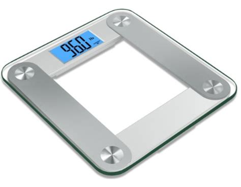 red bathroom scales