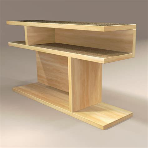 west elm bookshelf side table 3d model formfonts 3d