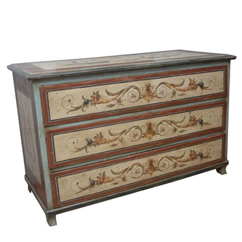 early 19th century austrian painted chest of drawers at
