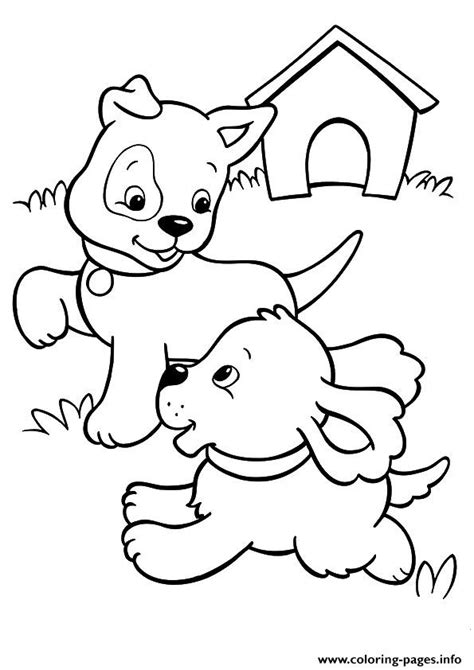 puppy playing coloring page the pups playing puppy coloring pages printable