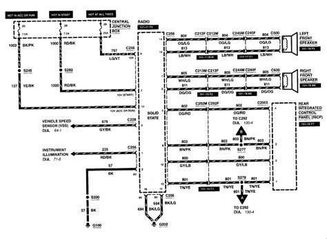 wiring diagram 1998 ford explorer radio wiring diagram