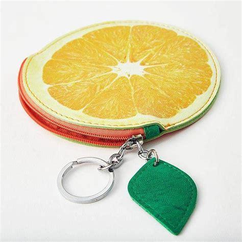 juicy orange coin purse wear  fruit