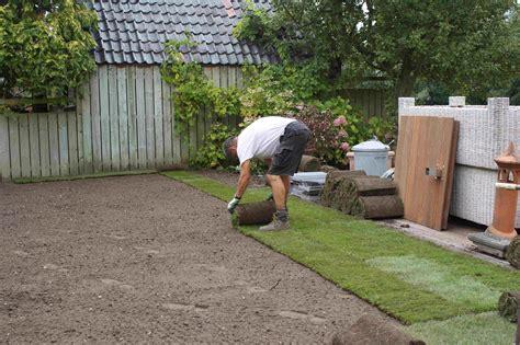 aanleg van tuinen tuinen aan het aanleggen