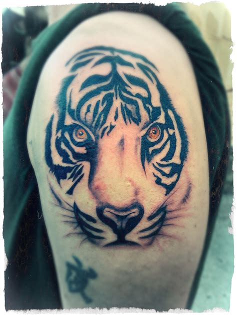 tiger face tribal tattoo tiger the official site of rusvai roland