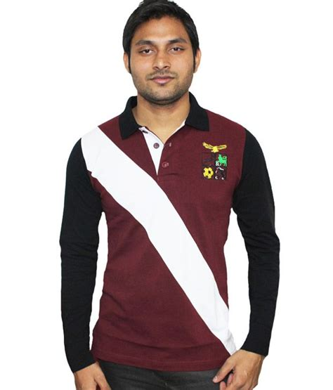 Blouse Polos Tali Maroon Tosca lanosuc black maroon polo t shirt buy lanosuc black maroon polo t shirt at low