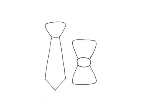 Mens Tie Template 9 printable bow tie templates free word pdf format