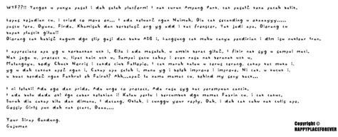 contoh surat cinta bagi pecinta tradisi orang lama si