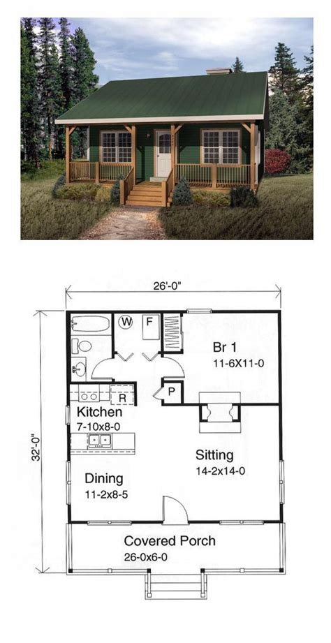tiny cabin floor plans best 25 small house plans ideas on small home