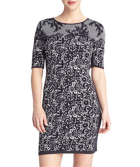 black white pattern dress secretsales discount designer clothes sale online black