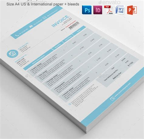 design invoice template psd 37 best psd invoice templates for freelancer web