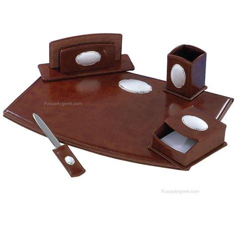 set scrivania pelle set scrivania class 5 pezzi pelle placca satinata